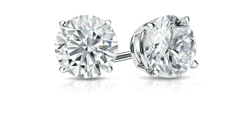 .5 carat diamond stud earrings