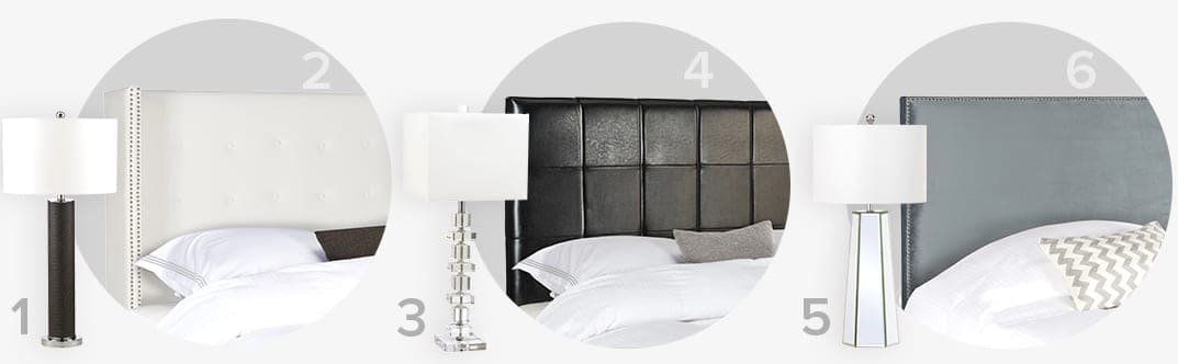 The perfect pair of modern table lamps and headboards