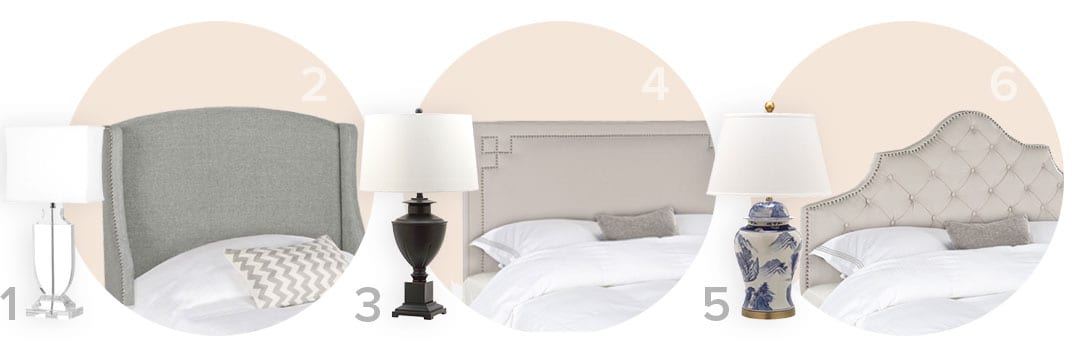 The perfect pair of traditional  table lamps and headboards