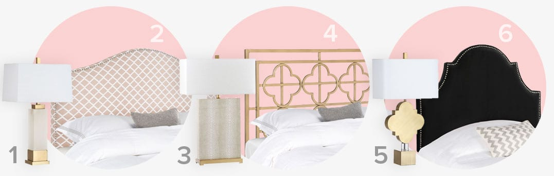 The perfect pair of glam table lamps and headboards