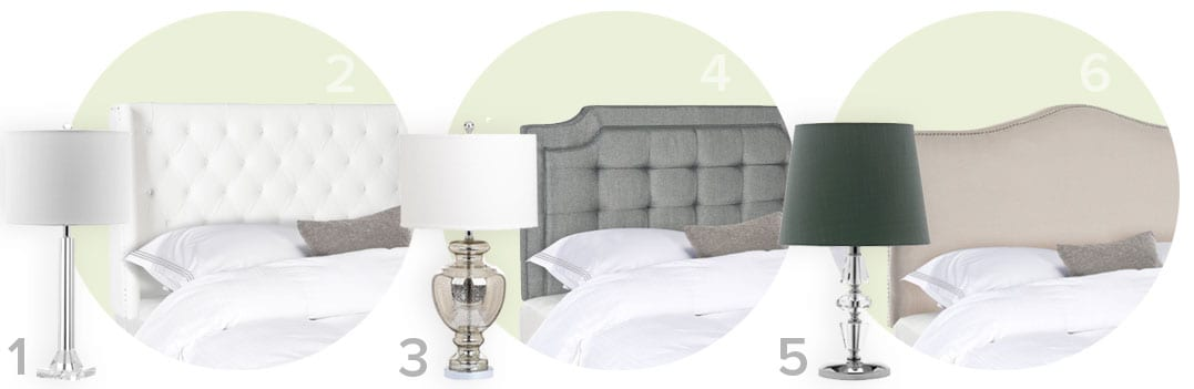 The perfect pair of Contemporary table lamps and headboards