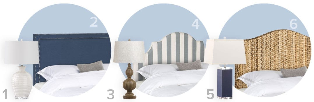 The perfect pair of coastal  table lamps and headboards