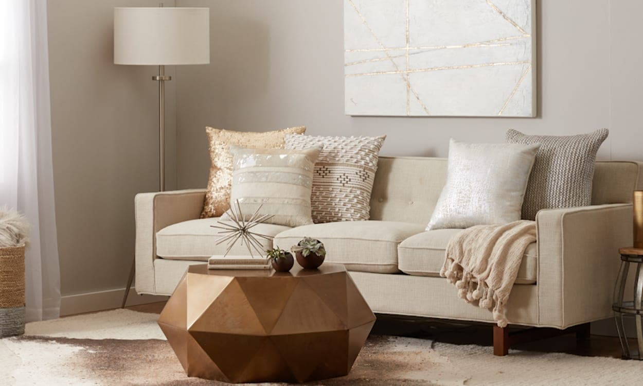 Beautiful Neutral color palette with display of mixed metals