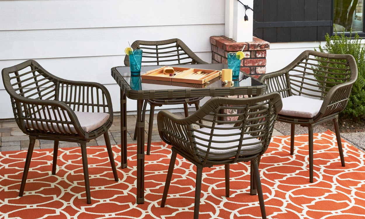 Rattan Outdoor Dining Sets For Small Es