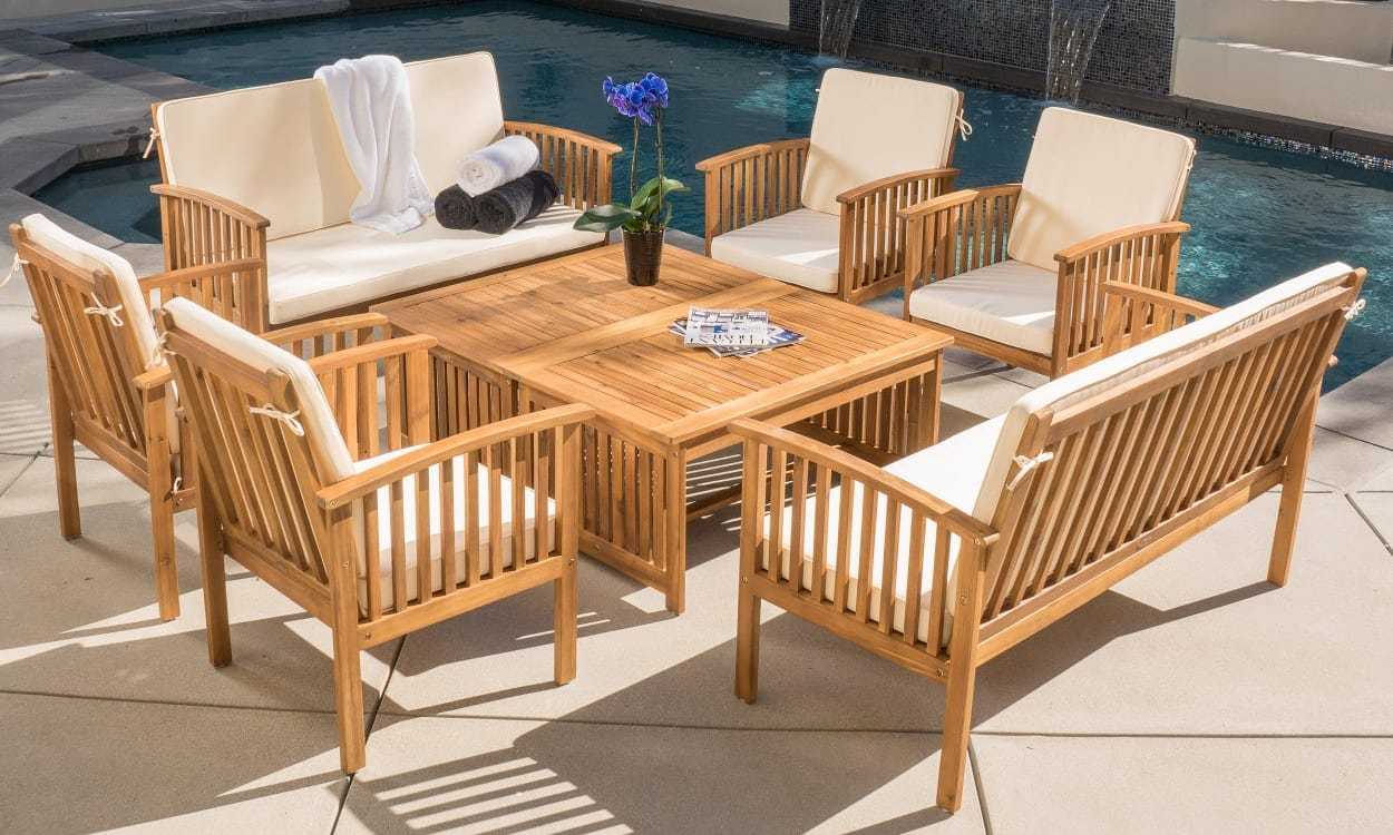Purchase outdoor furniture that complements your home