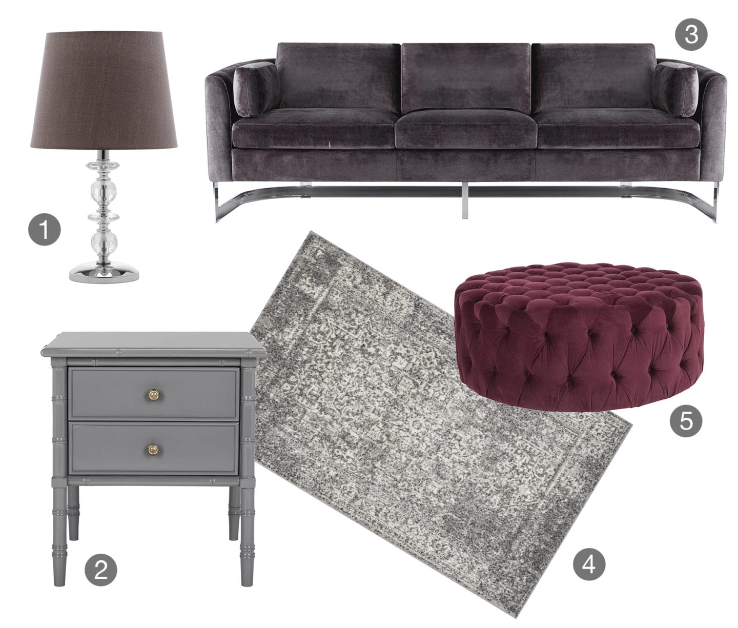 Grey Color Scheme with Colors