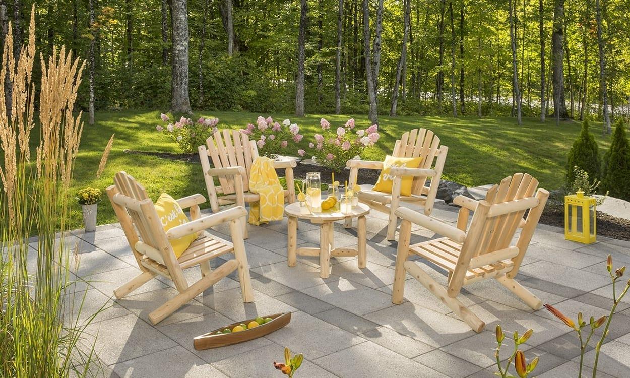Cedar outdoor furniture set