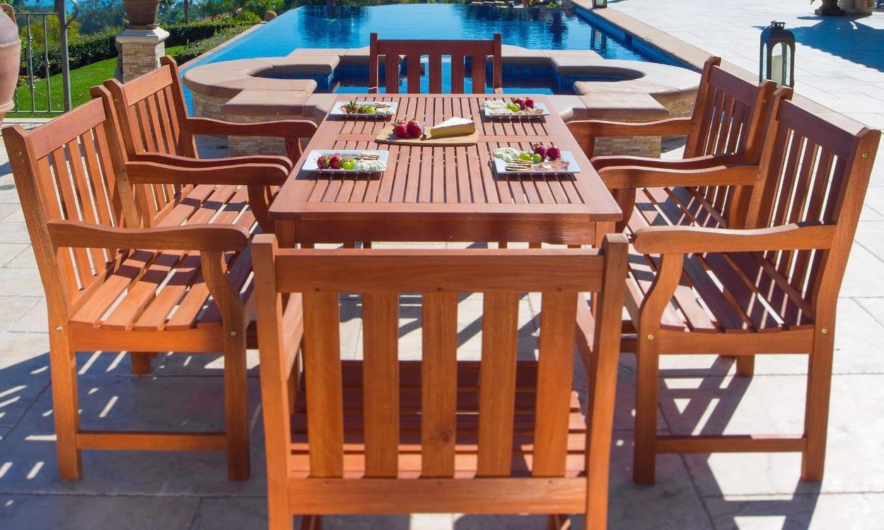 Eucalyptus outdoor dining set