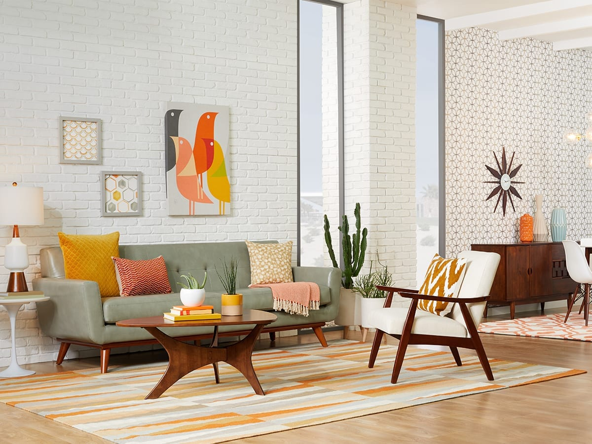 Mid century modern living room ideas