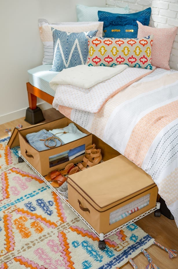 Instead of Basic Under Bed Drawers, Try a Rolling Shelf