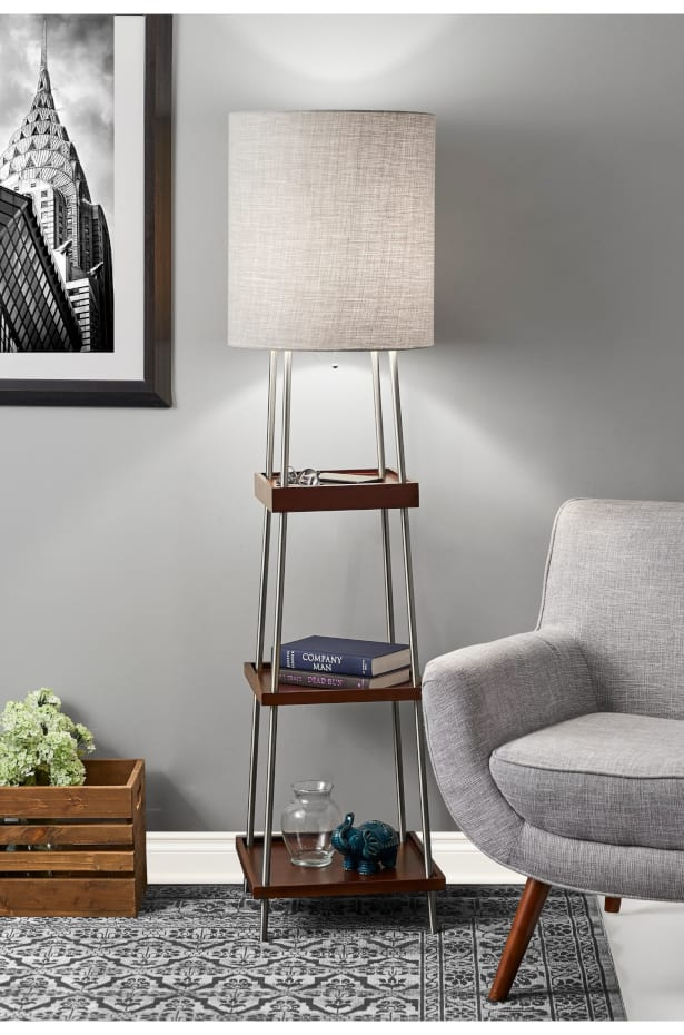 Add a Floor Lamps with Shelves