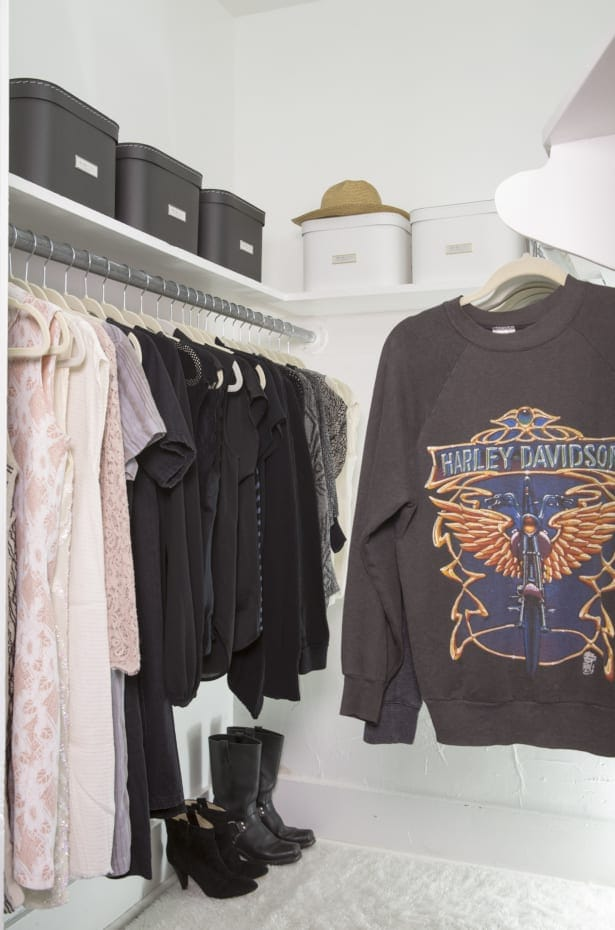 Use storage boxes in your closet