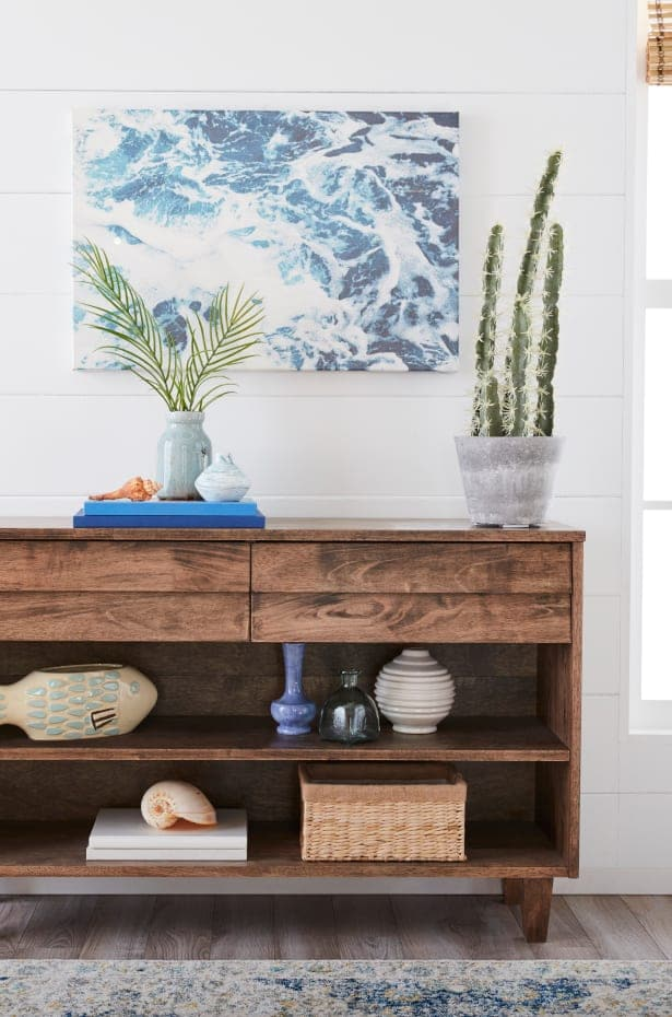 Coastal Beach House Entryway