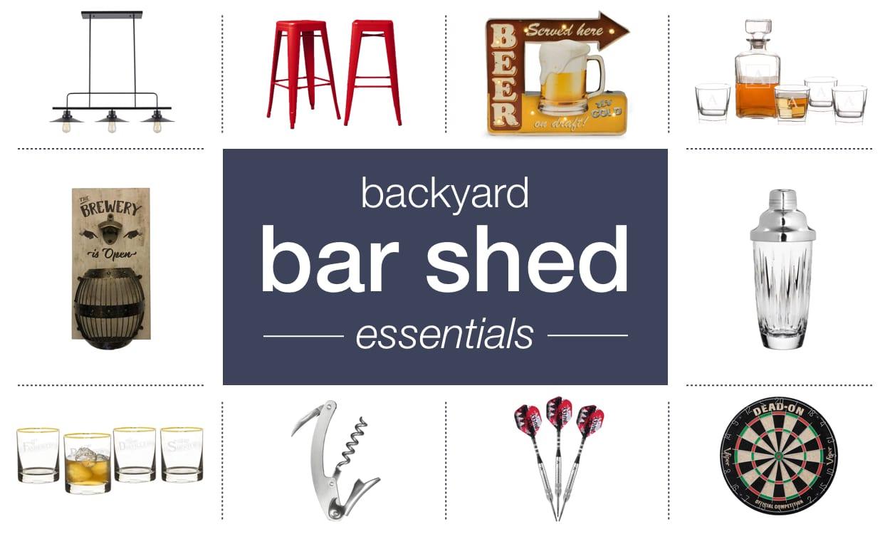 Backyard Bar Shed Essentials