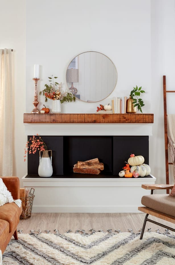 Create a Fall Display for Your Mantel