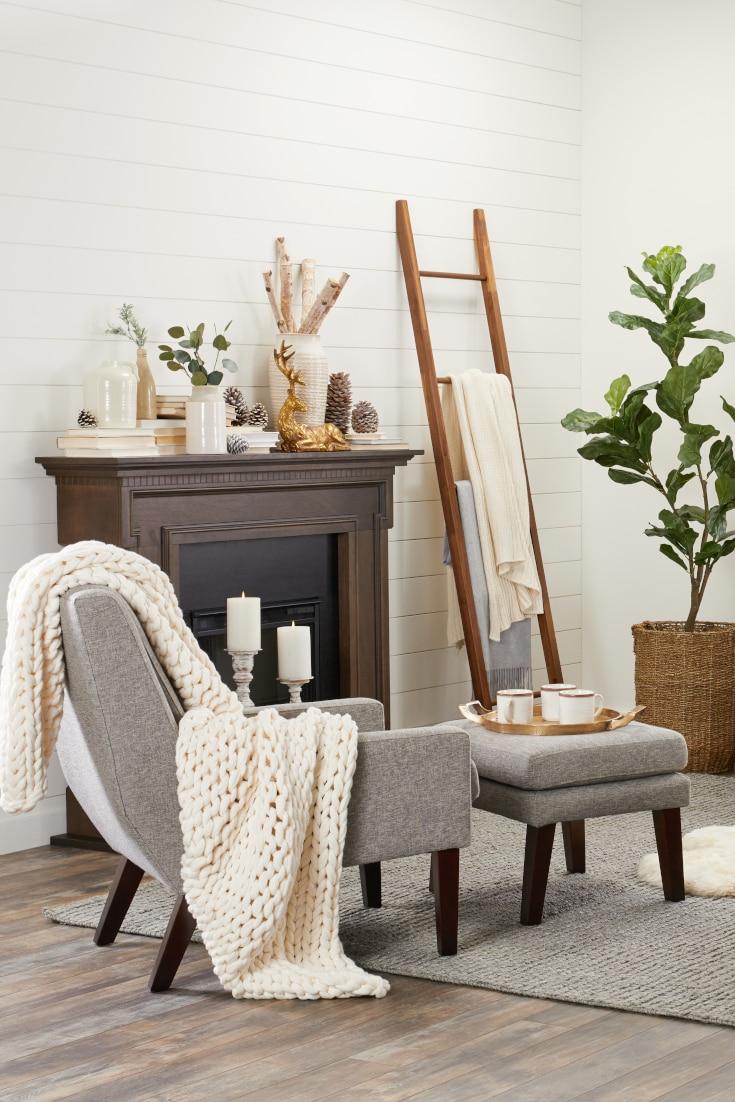 Cozy hygge living room