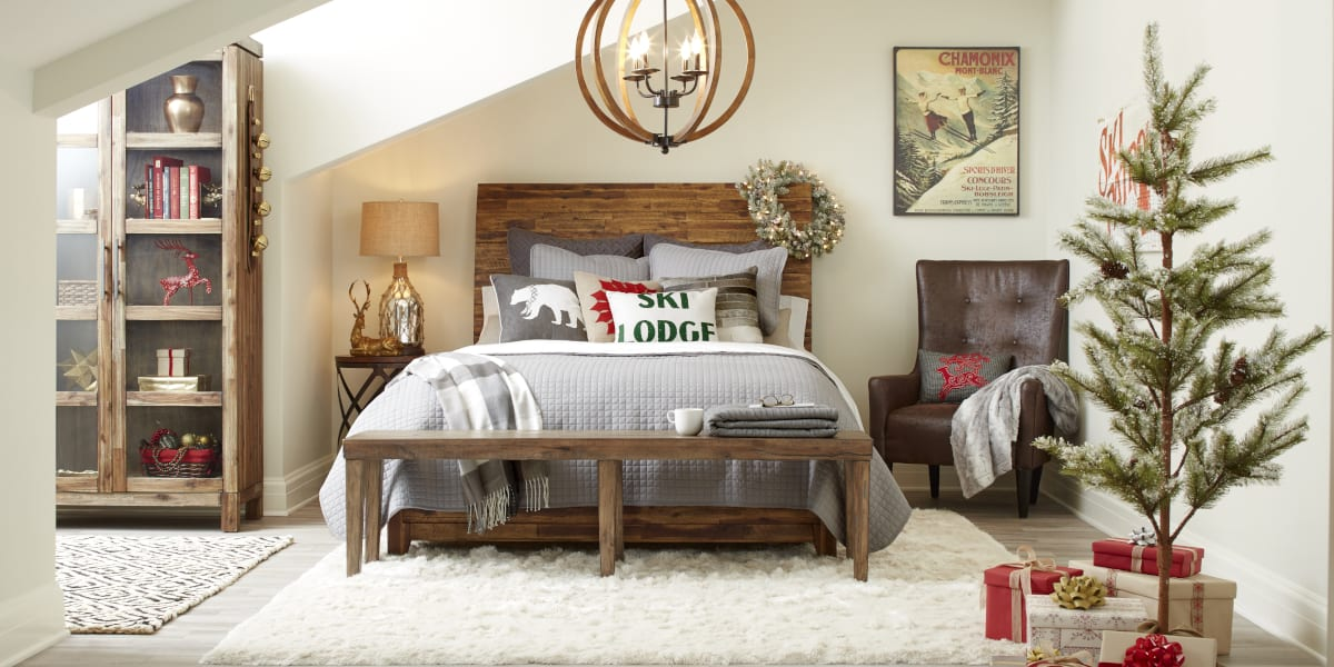 Country Christmas Bedroom