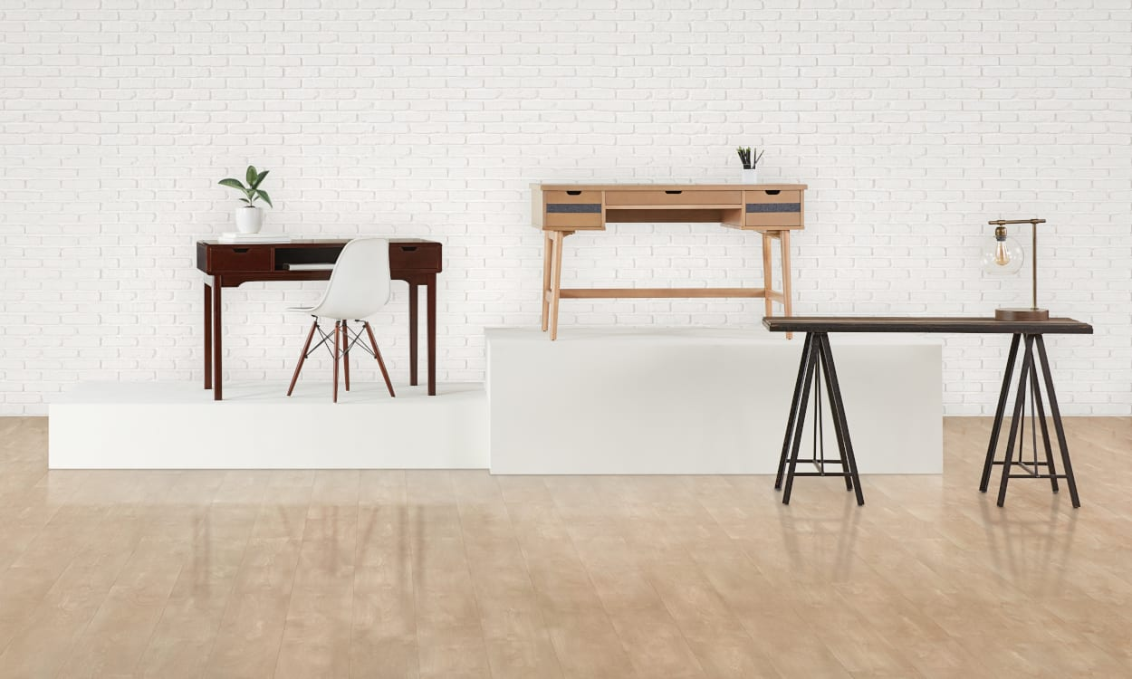 Best flooring for home office Creative The Best Home Office Desks For Ultimate Productivity Overstock The Best Desks To Boost Productivity In Your Home Office Overstockcom