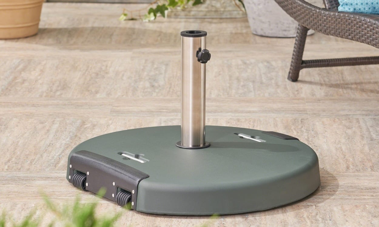 Give Your Umbrella Plenty Of Support With A Sturdy Base. Patio Umbrella Base