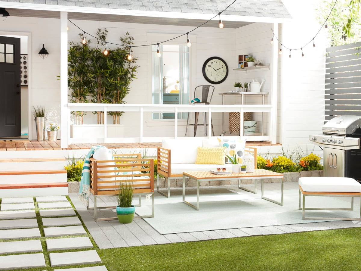 Patio with modern patio furniture