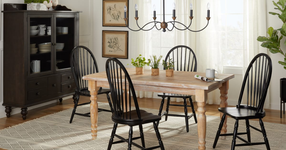 Picture of: Black Dining Room Furniture Ideas Good Enough To Eat Overstock Com