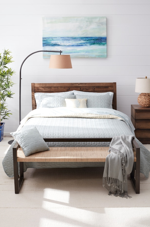 Bedroom with calming colors