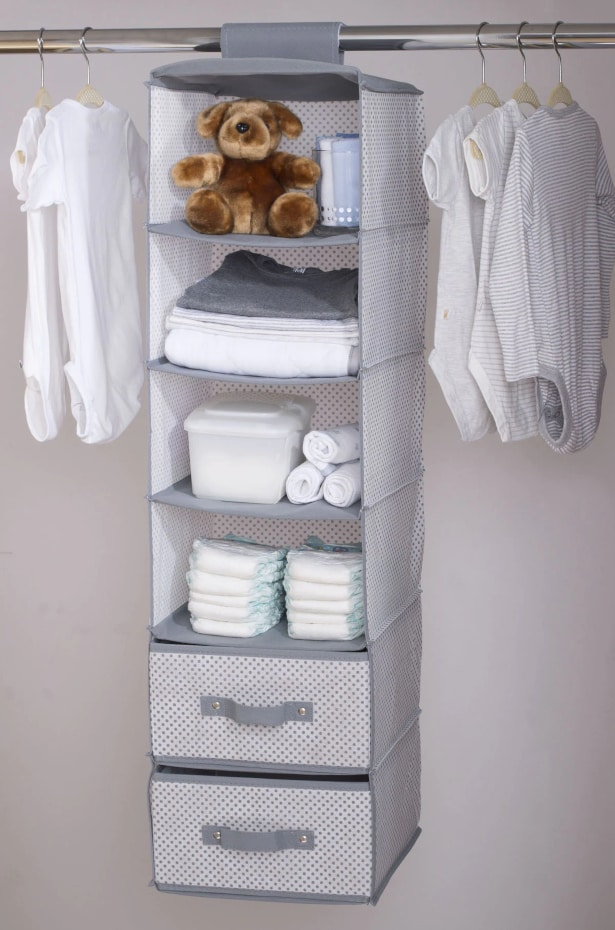 Closet organizer for Nursery