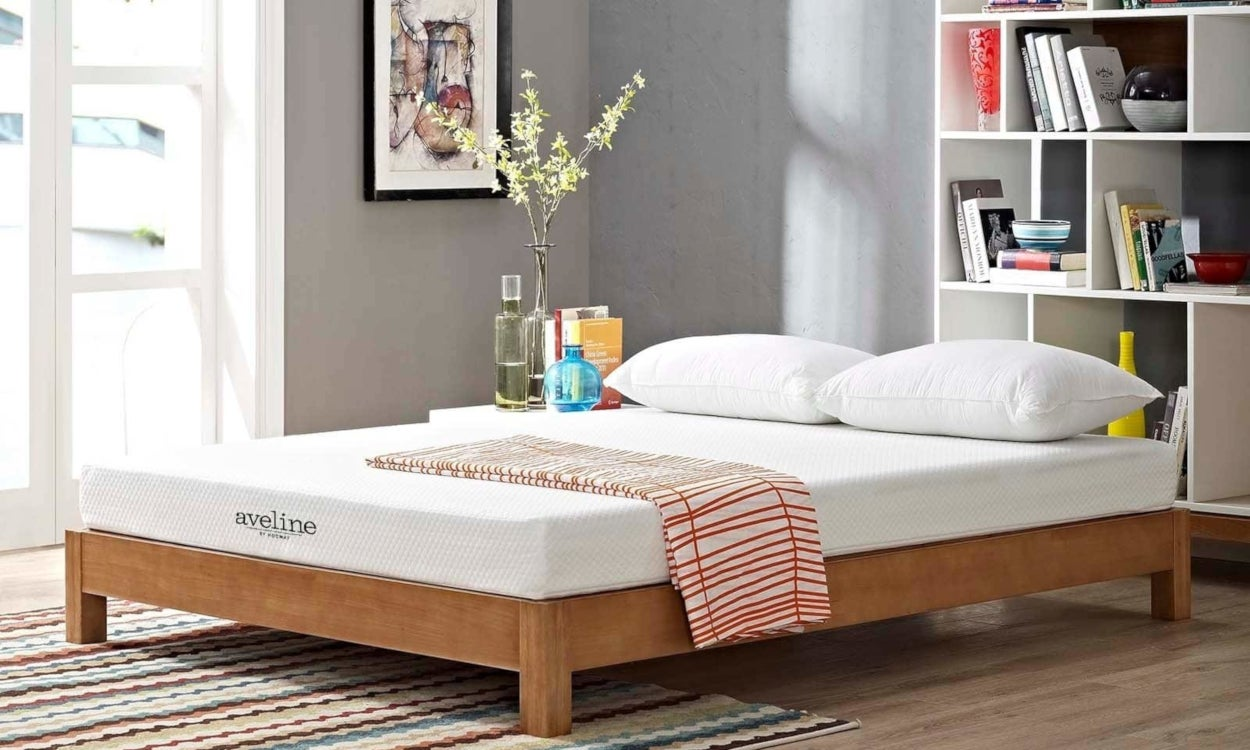 Memory Foam Mattress Showing One of the Thickness Options