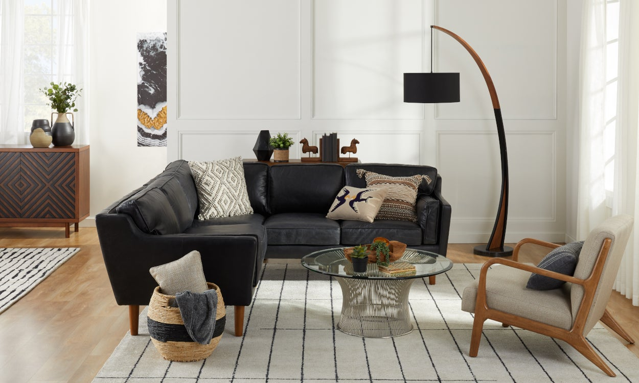Give Your Living Room a Black Furniture Makeover