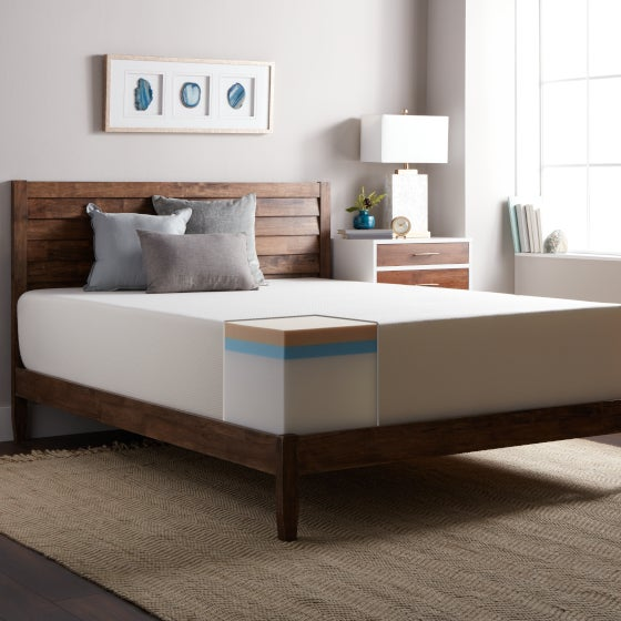 Bedroom Featuring a Memory Foam Mattress to Show You How a Memory Foam Mattress is Constructed