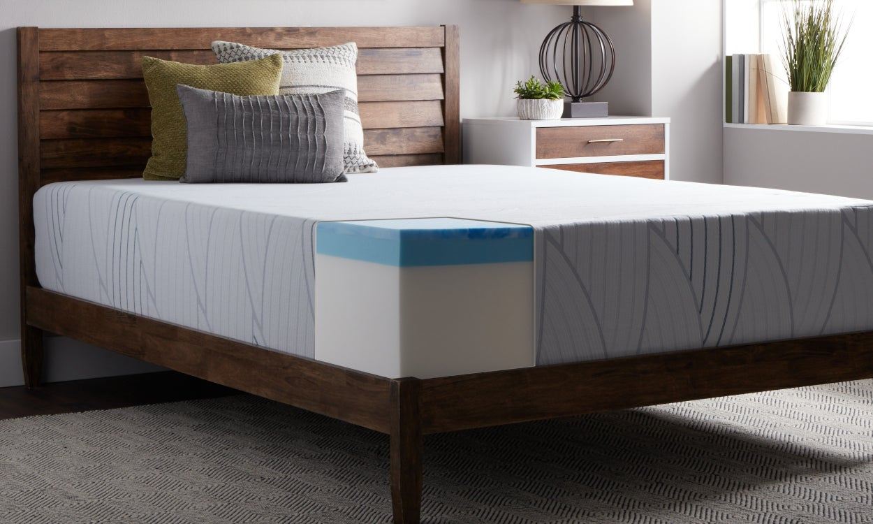 Bedroom Featuring Memory Foam Mattress to Help You Choose the Right Density
