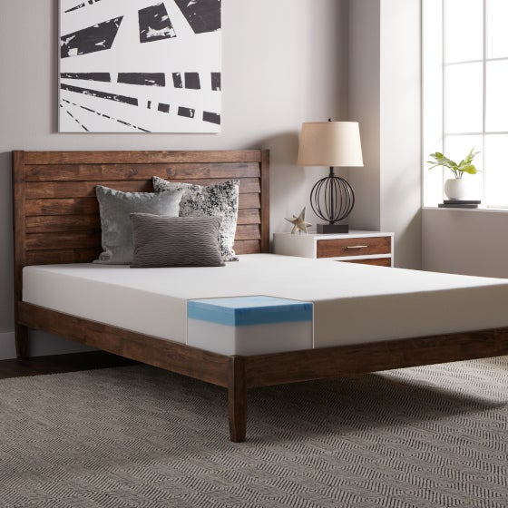 Bedroom Featuring a Memory Foam Mattress to Help You Choose the Right Density