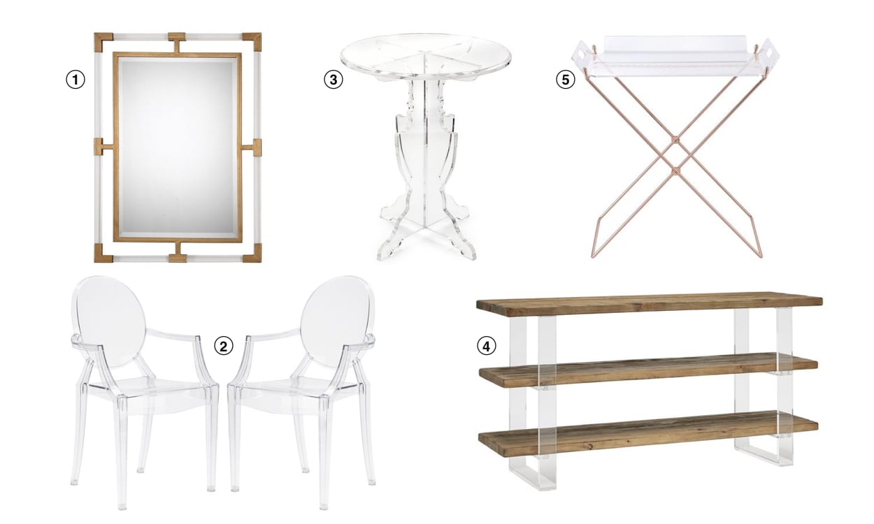 Top 10 Home Decor Trends for 2019: Acrylic Furniture