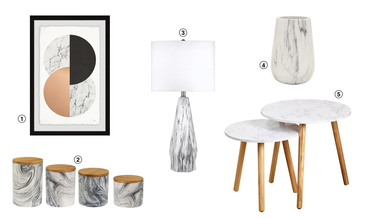 Top 10 Home Decor Trends for 2019: Marble Accents