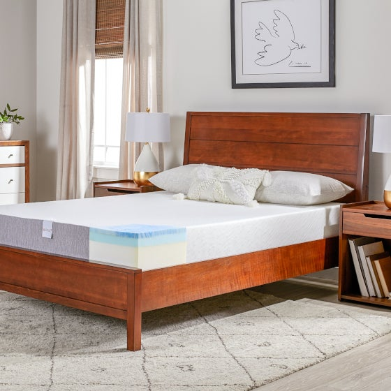 Mattress With Gel-Topped Memory Foam Leaves No Room for Bacteria to Grow