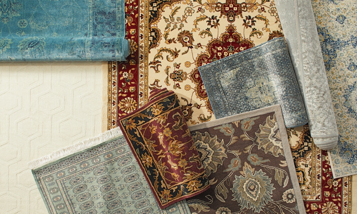 Oriental Area Rugs of multiple sizes and patterns