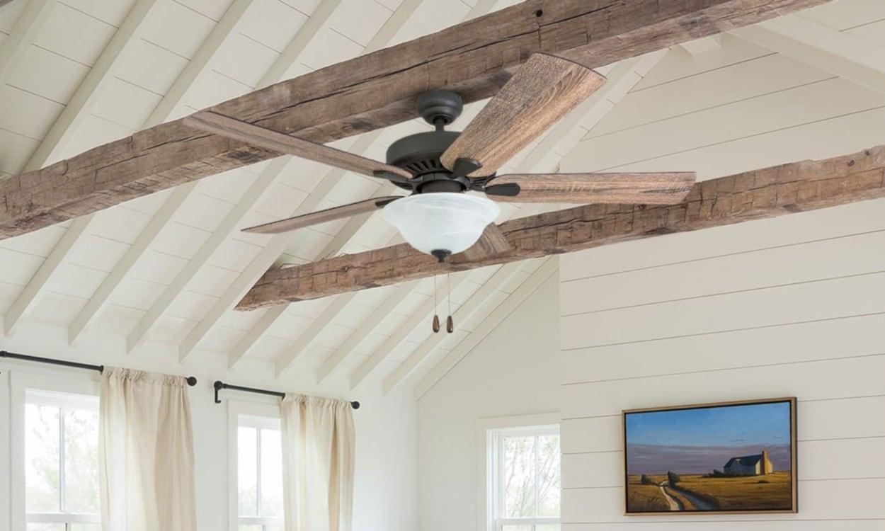 Mounted ceiling fan