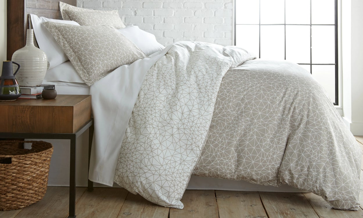 Bedding Essentials, a duvet cover, sheets, and pillowcases. Bedding 101