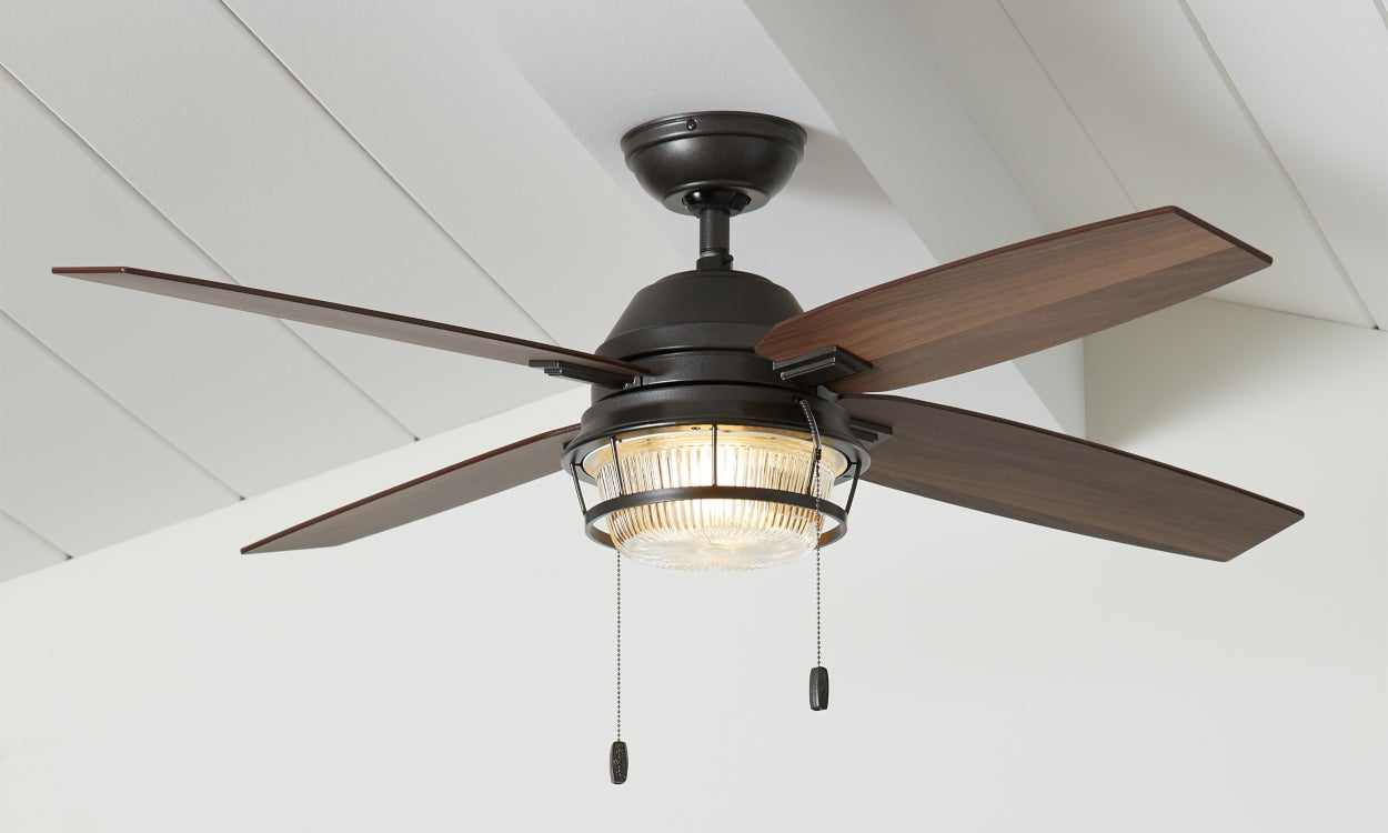 Ceiling Fan Lighting Fixture installed - Home Lighting Design Tips