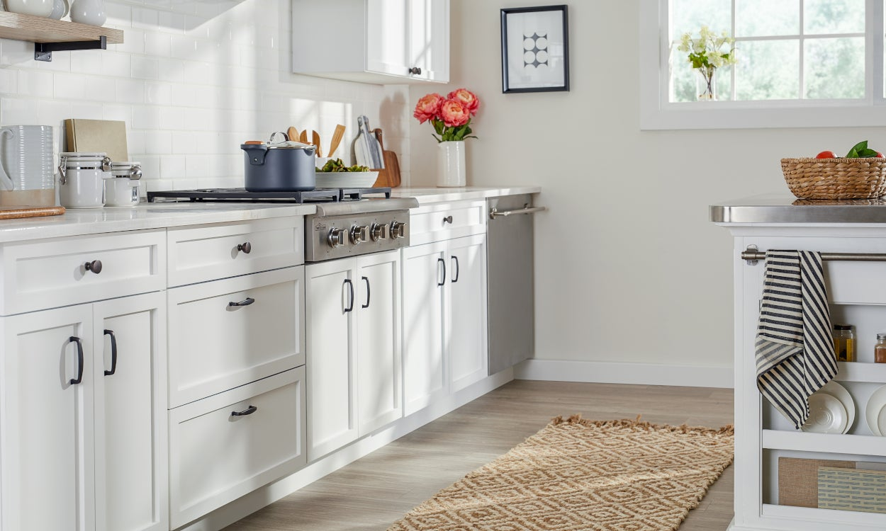 A Kitchen with a Jute Runner Rug - 5 Tips for Choosing the Perfect Kitchen Rug