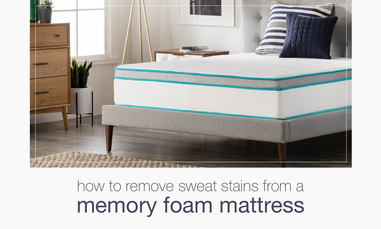 How to Remove Sweat Stains From a Memory Foam Mattress