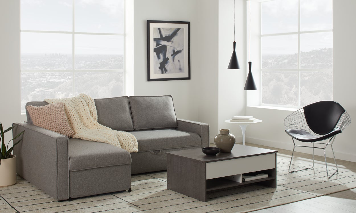 Small sectional sofas couches for small spaces - Best sectionals for apartments ...
