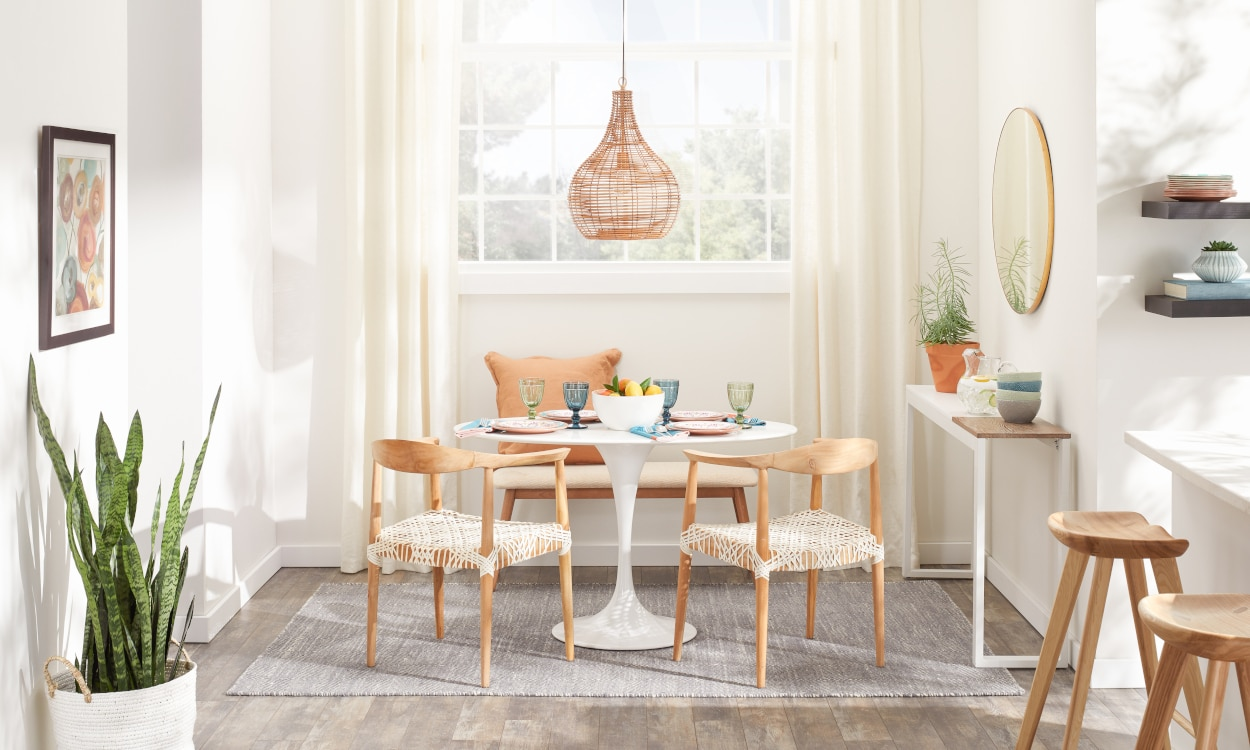 Small kitchen dining table and chairs in a small space dining room