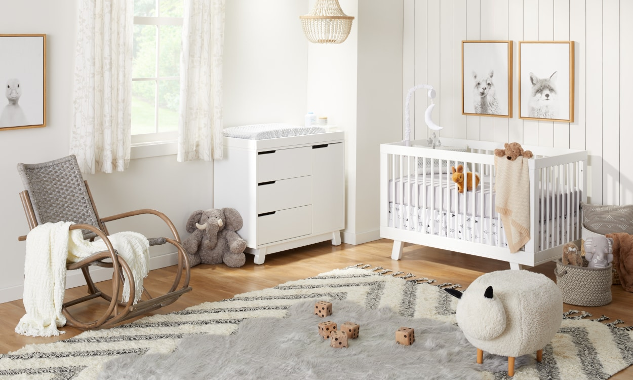 Decorated baby nursery with all the essentials