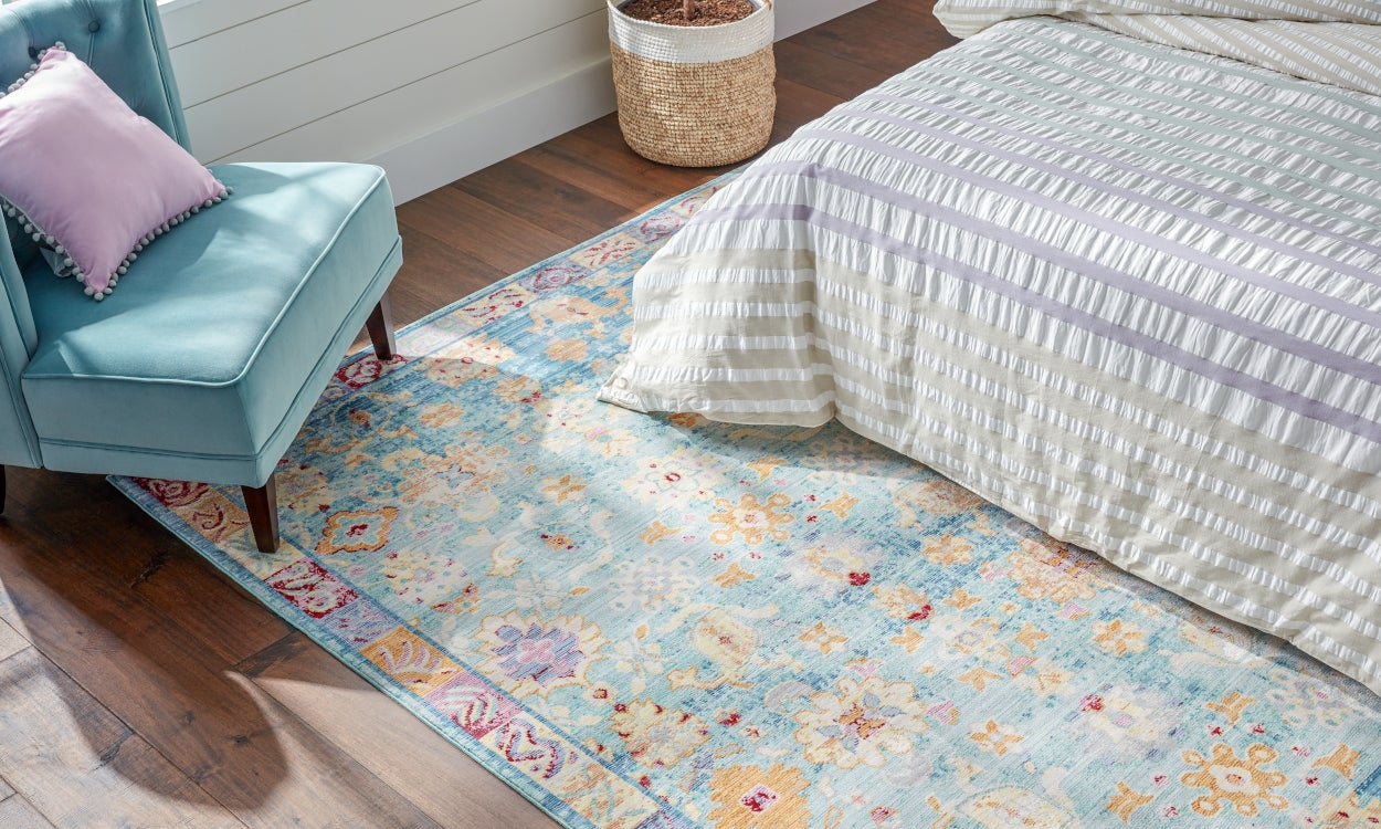 Weigh Down Rug Bumps and Folds
