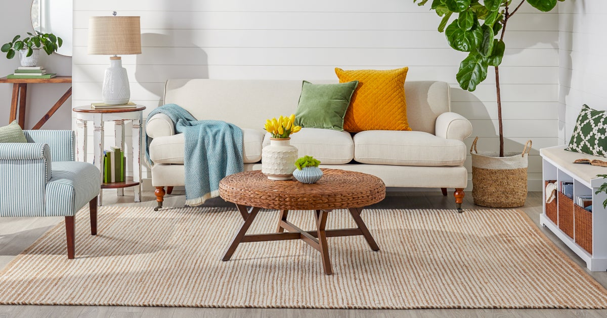 terrific colorful living room rug | Trend Alert: Why You Need a Jute Rug | Overstock.com
