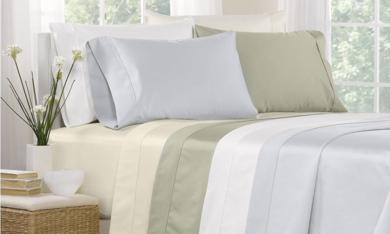 Light color Egyptian cotton sheets