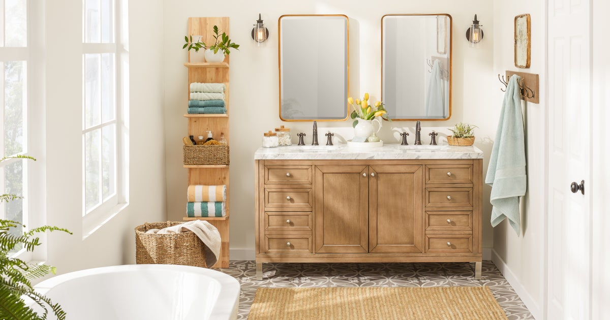 9 Small Bathroom Storage Ideas That Cut the Clutter ... on Ideas For Small Bathrooms  id=74693