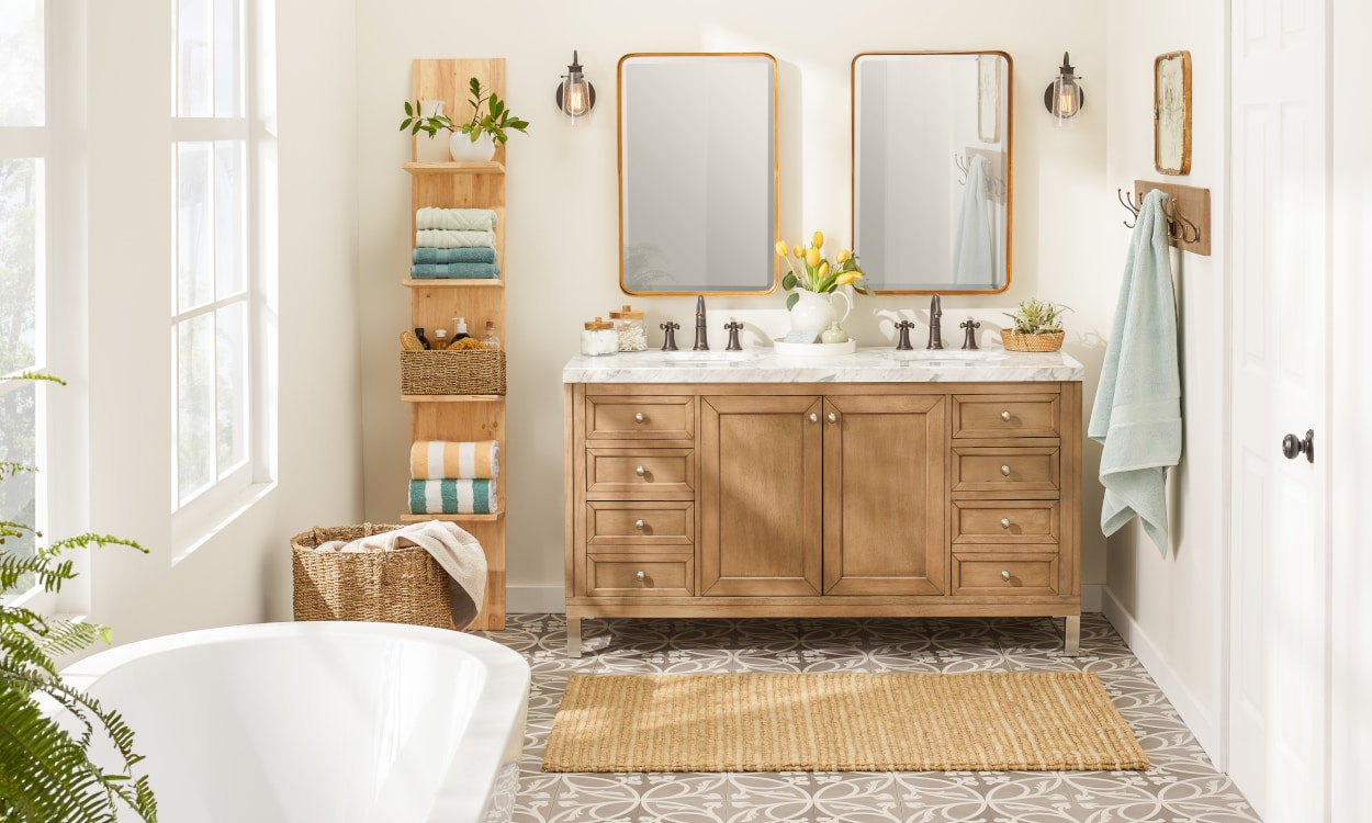12 Small Bathroom Storage Ideas That Cut the Clutter  Overstock.com