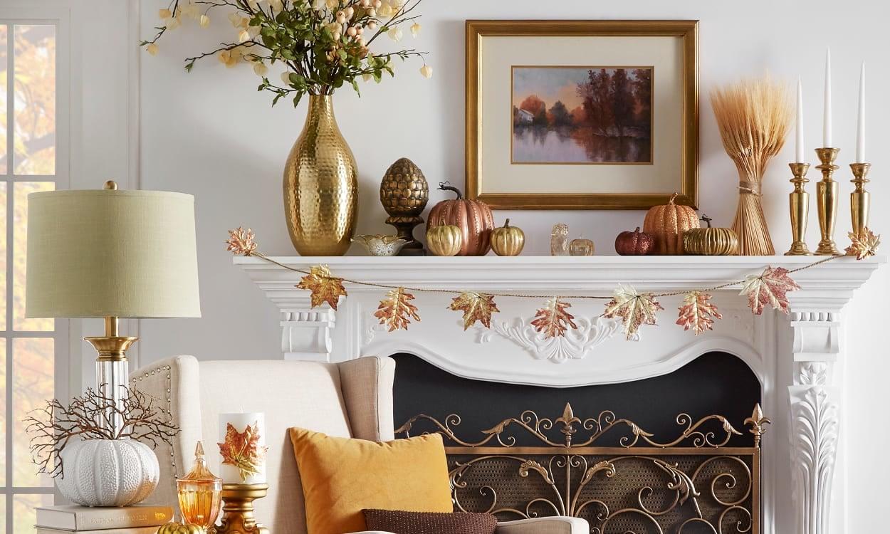 Pumpkin Harvest Mantel